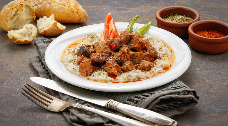 Hünkar Beğendi- Lamb Stew on eggplant puree